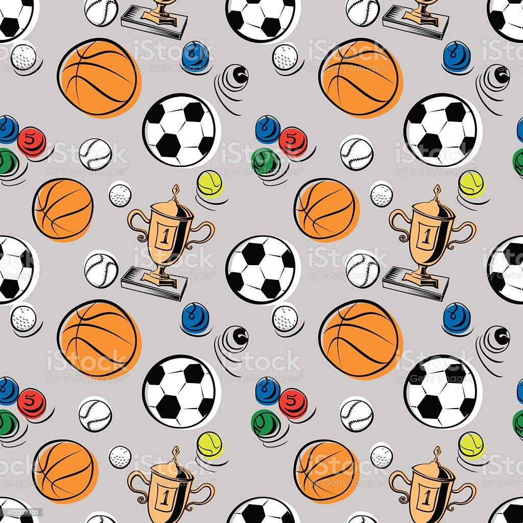 Sport Pattern royalty-free stock vector art