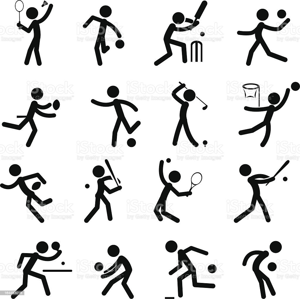 Sport Pictogram Icon Set 01 vector art illustration