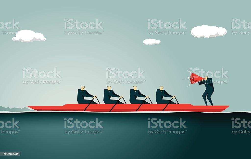 Sport Rowing vector art illustration