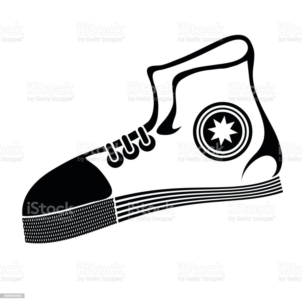 Sport running shoe vector art illustration