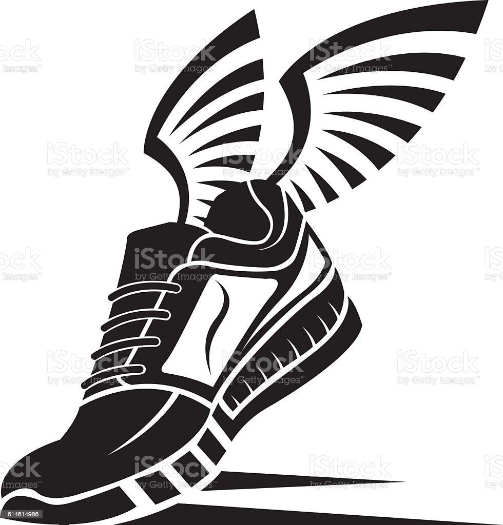 sport shoe icon vector art illustration