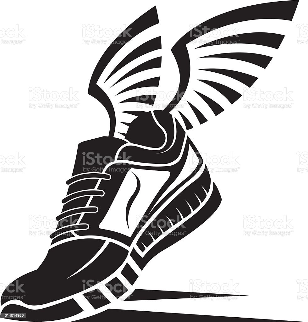 sport shoe icon vector art illustration