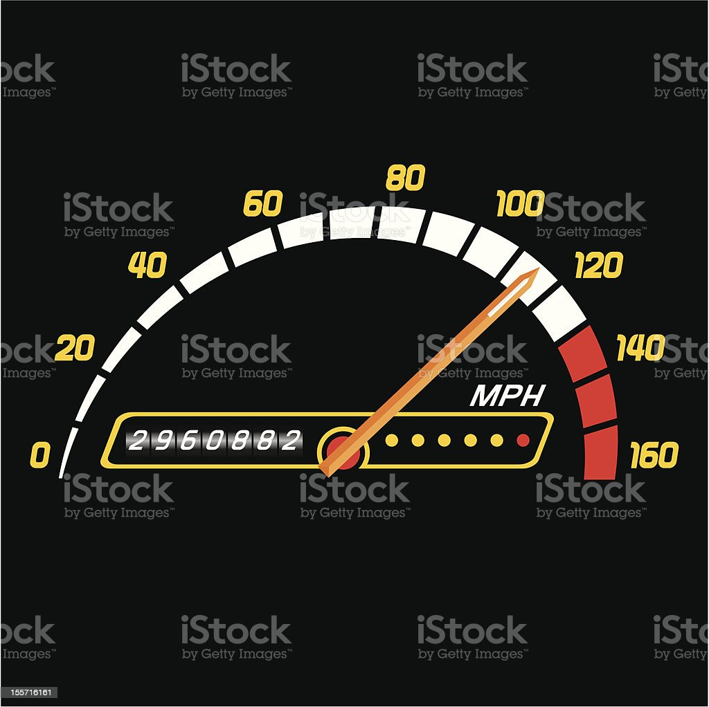 Sport Speedometer royalty-free stock vector art