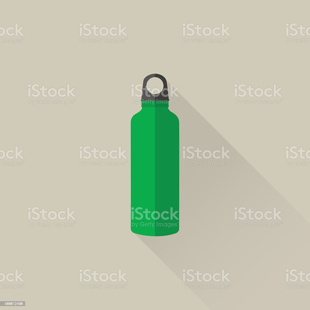 Sport stainless water bottle vector art illustration