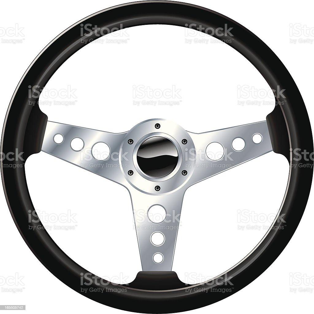 Sport steering wheel vector art illustration