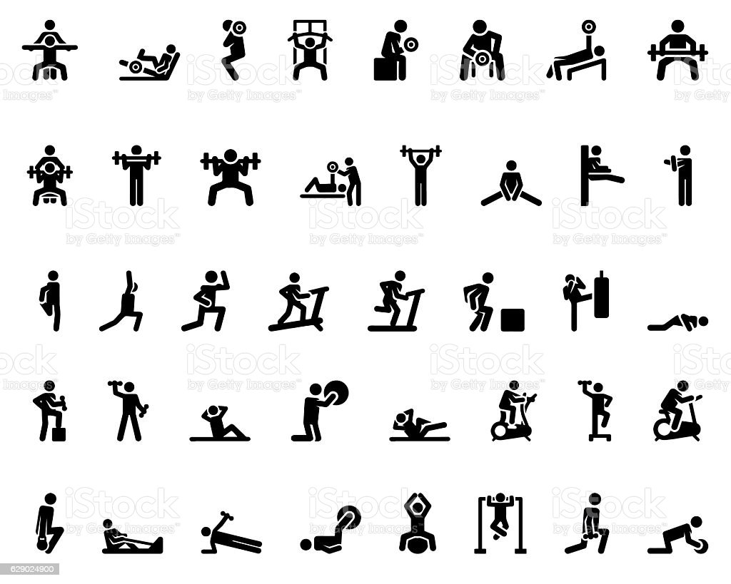 Sport Stick Figure vector art illustration