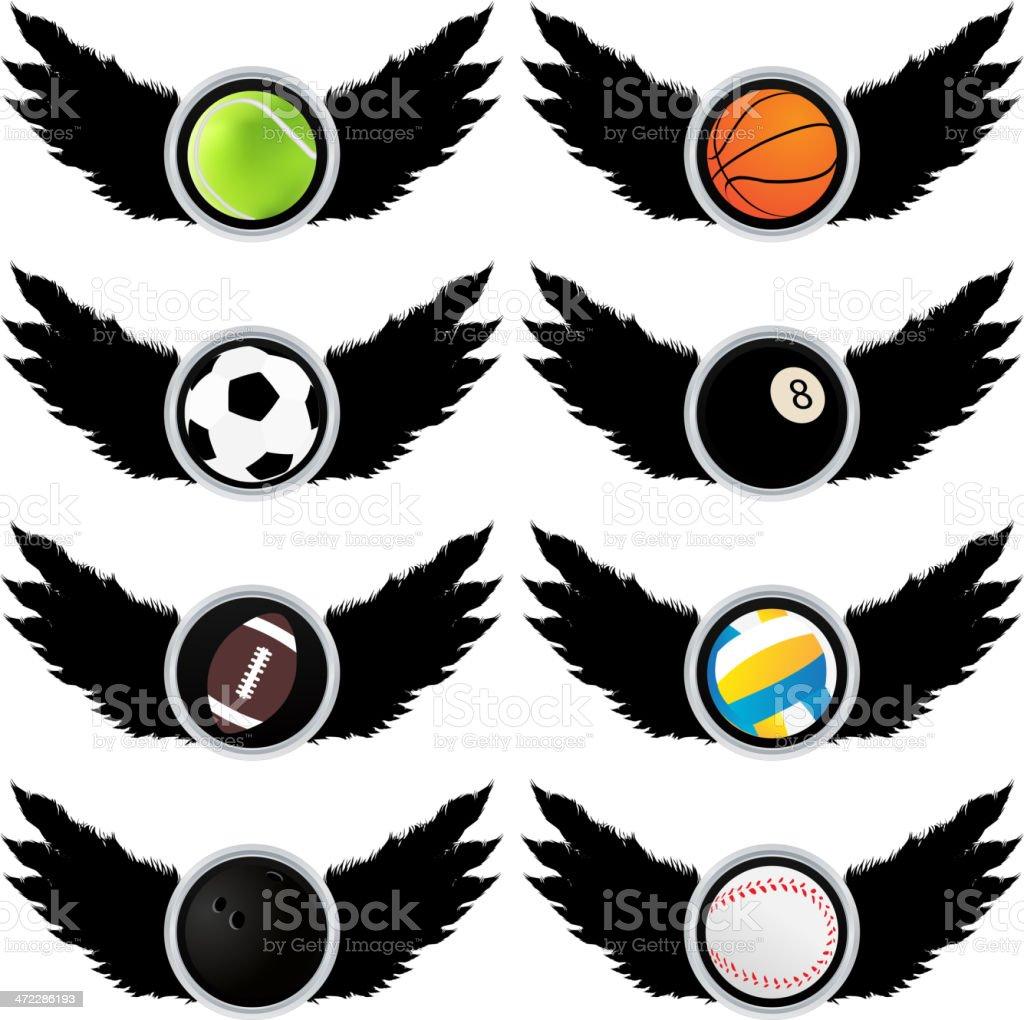 Sport symbols (balls) royalty-free stock vector art