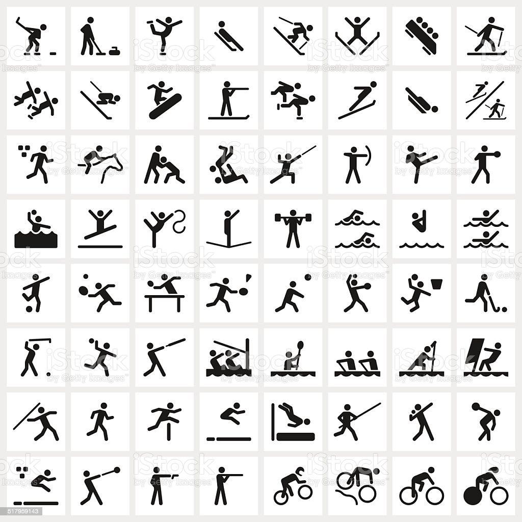 Sport Symbols vector art illustration