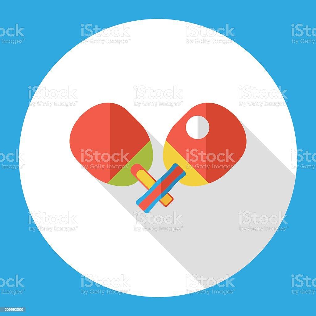 sport table tennis flat icon vector art illustration