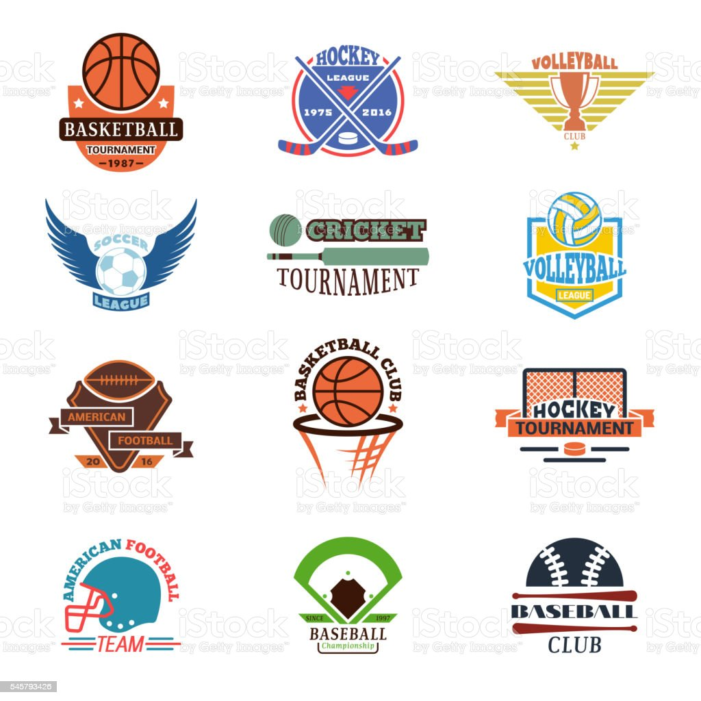 Sport team badge vector set. vector art illustration