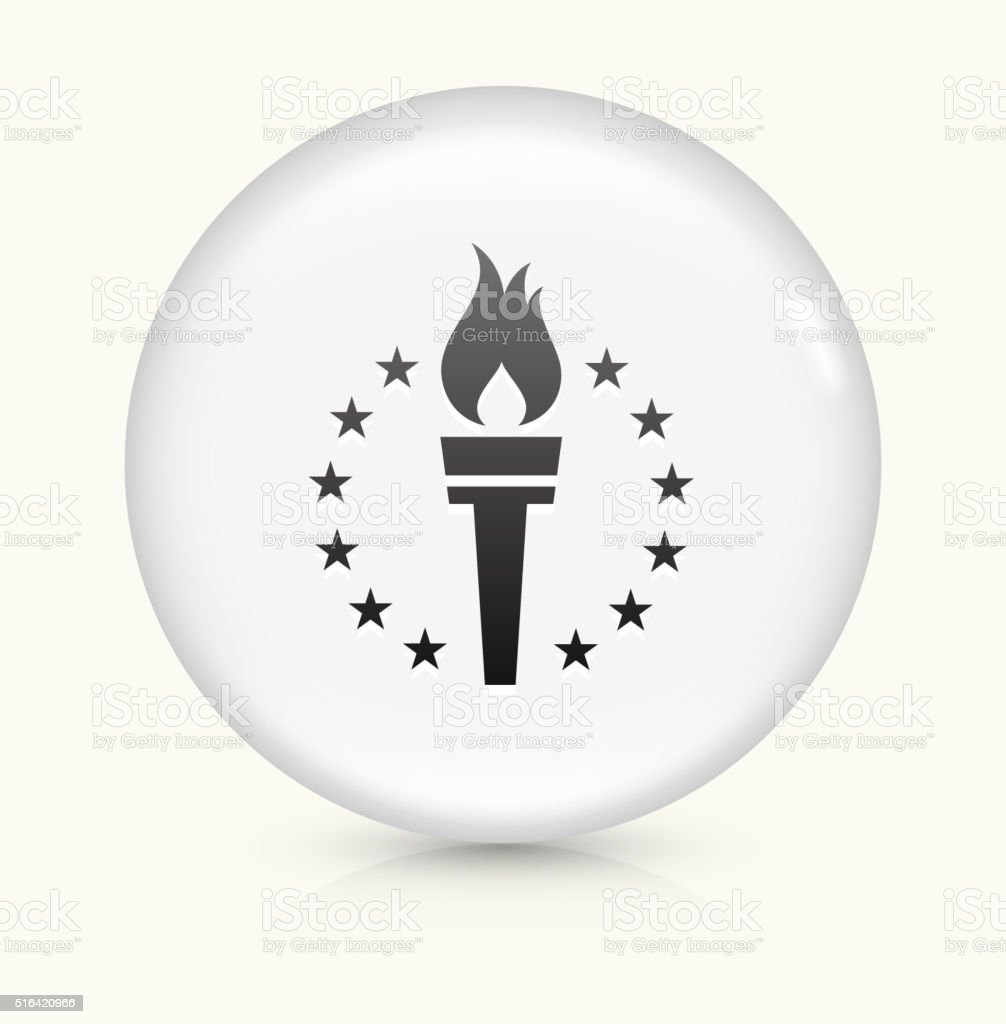 Sport Torch icon on white round vector button vector art illustration