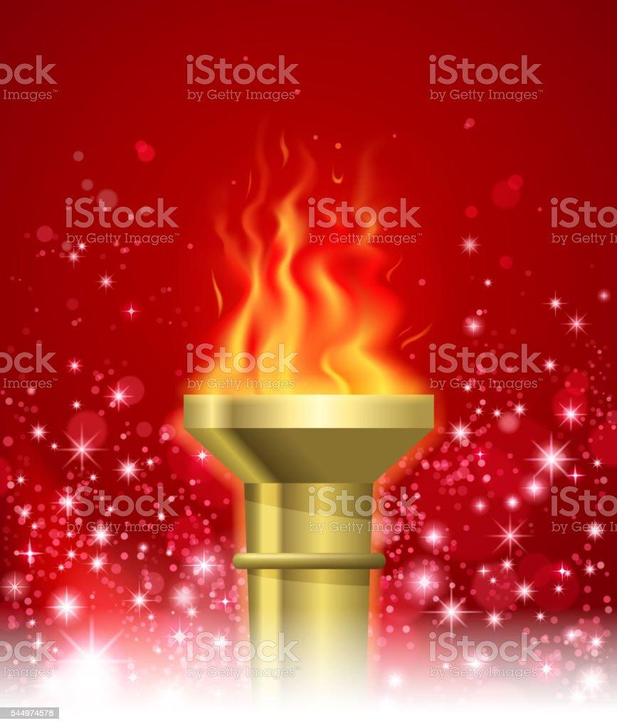 sport torch vector art illustration