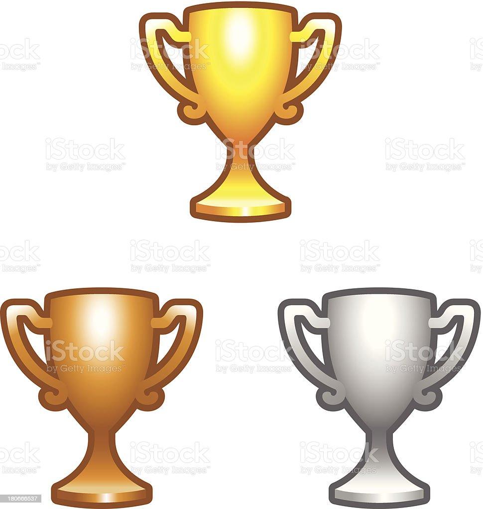 Sport trophy vector art illustration