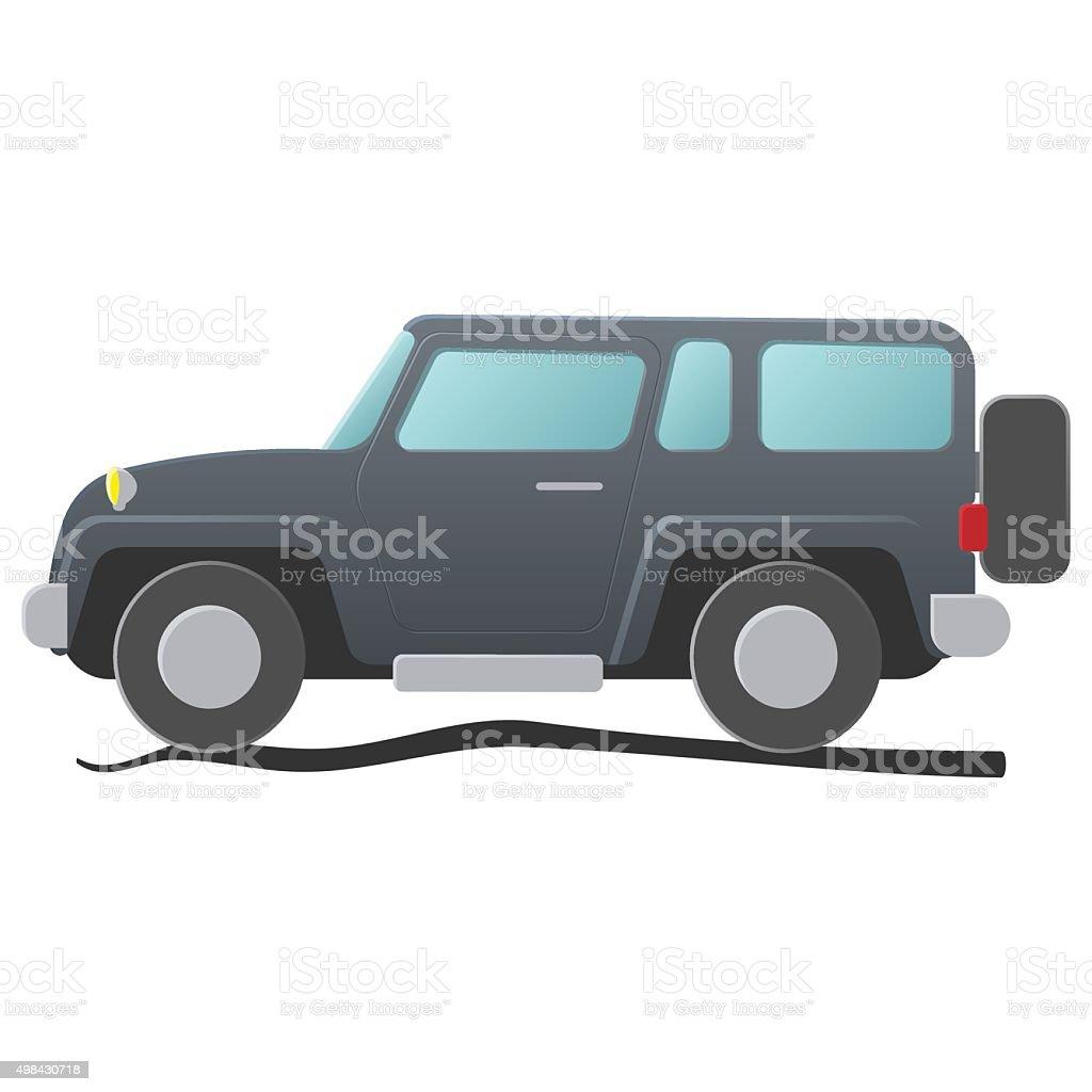 Sport utility vehicle. Cartoon illustration vector art illustration