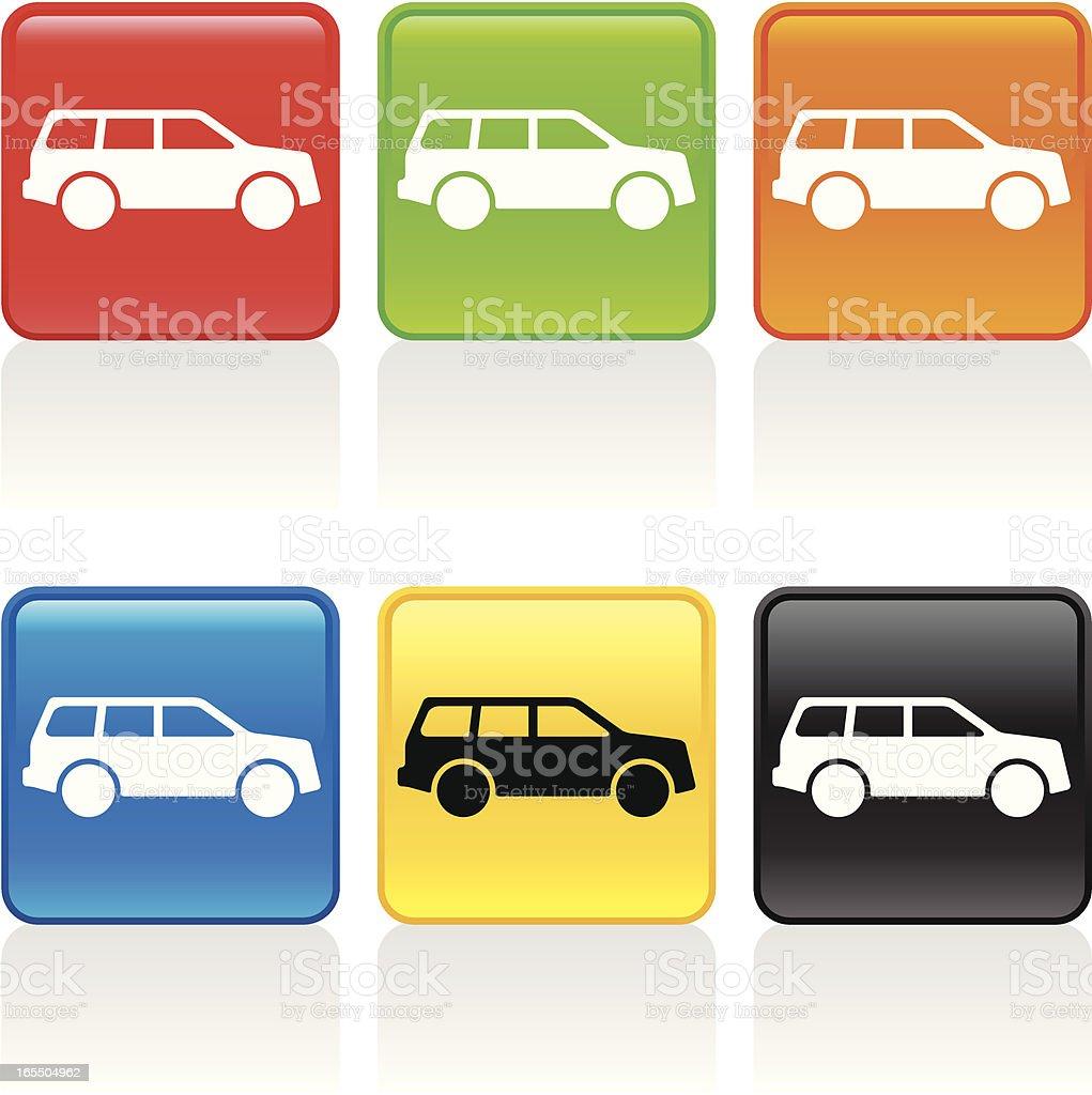 Sport Utility Vehicle Icon vector art illustration