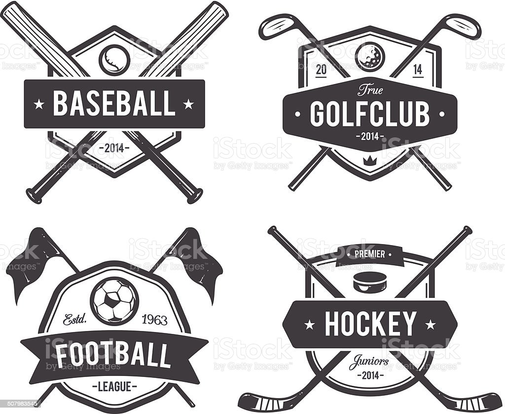 Sport Vector Emblems vector art illustration