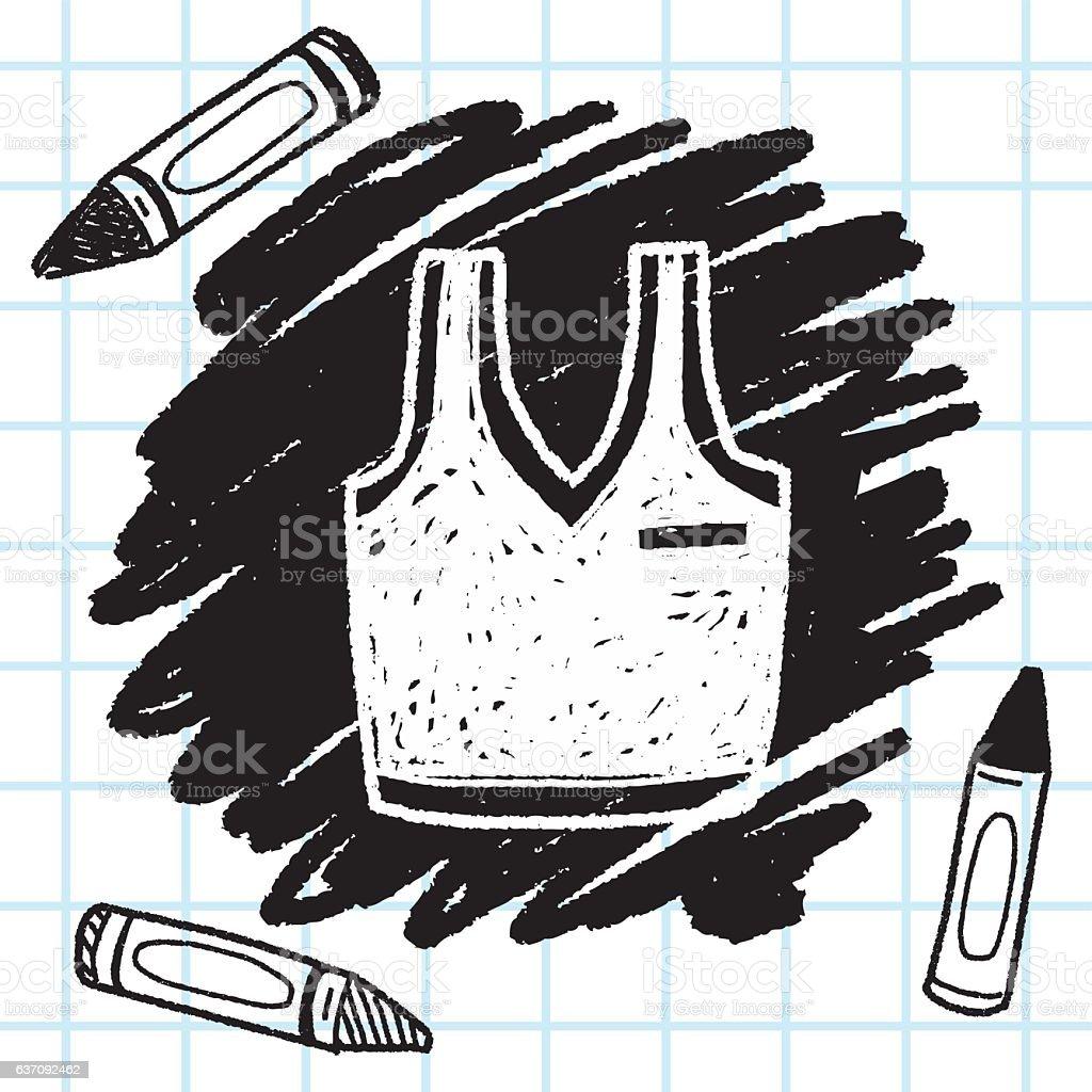 sport vest doodle vector art illustration