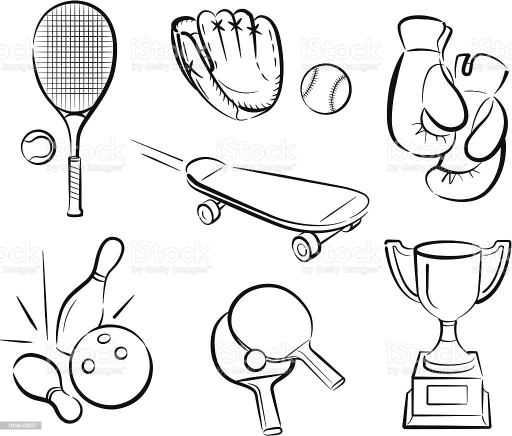 Sports 2 royalty-free stock vector art
