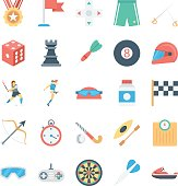 Sports and Games Colored Vector Icons 3