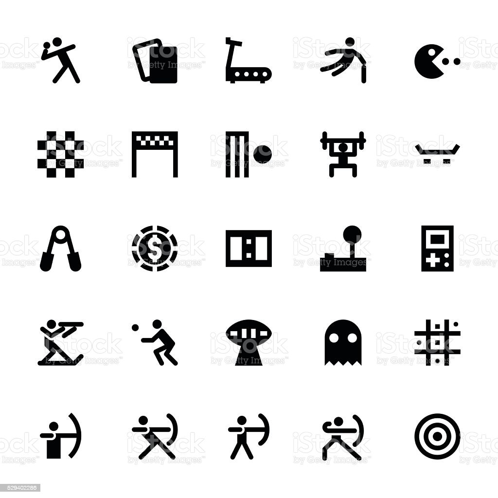 Sports and Games Vector Icons 5 vector art illustration