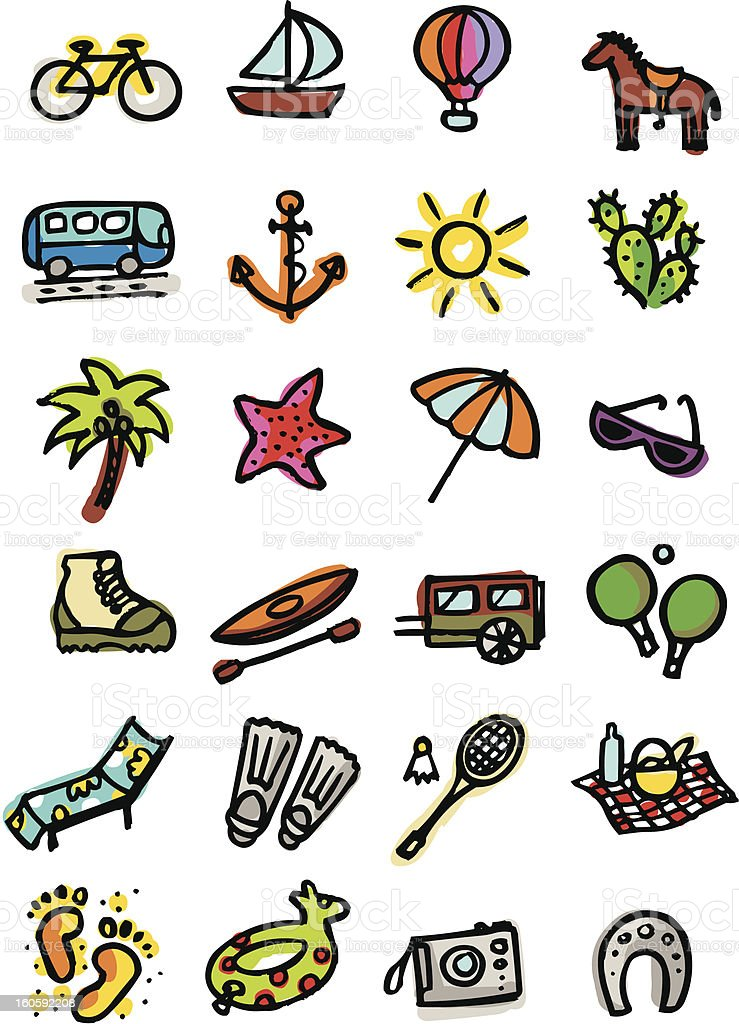 Sports and leisure royalty-free stock vector art