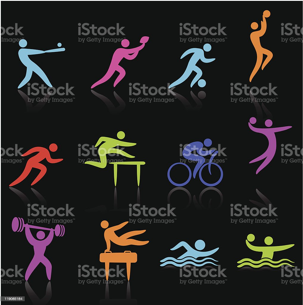 Sports Athlete Collection royalty-free stock vector art