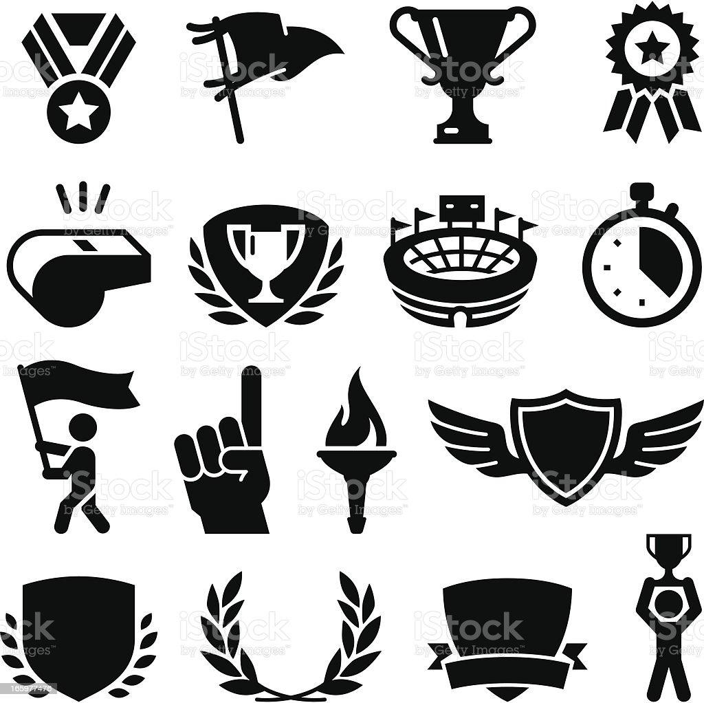 Sports Awards - Black Series vector art illustration