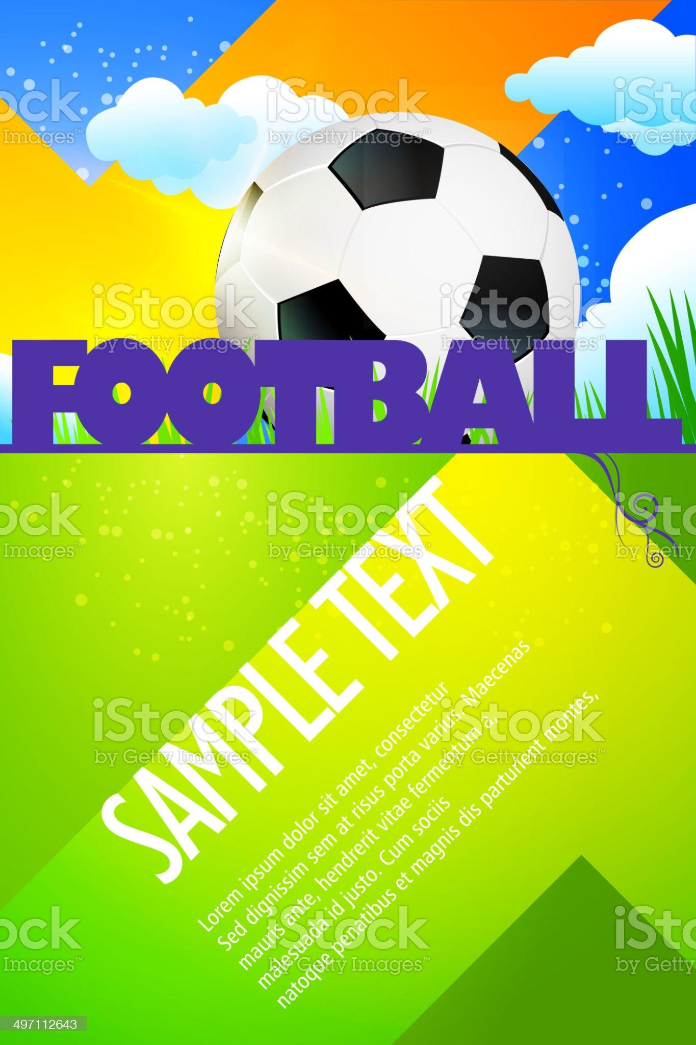 Sports Background - Football royalty-free stock vector art