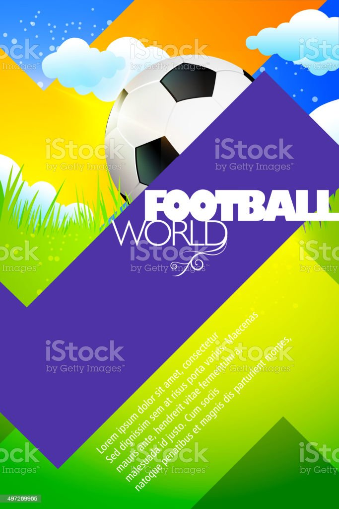Sports Background - Football royalty-free stock vector art