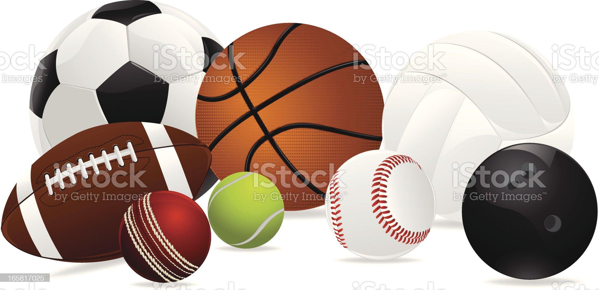 Sports Ball royalty-free stock vector art