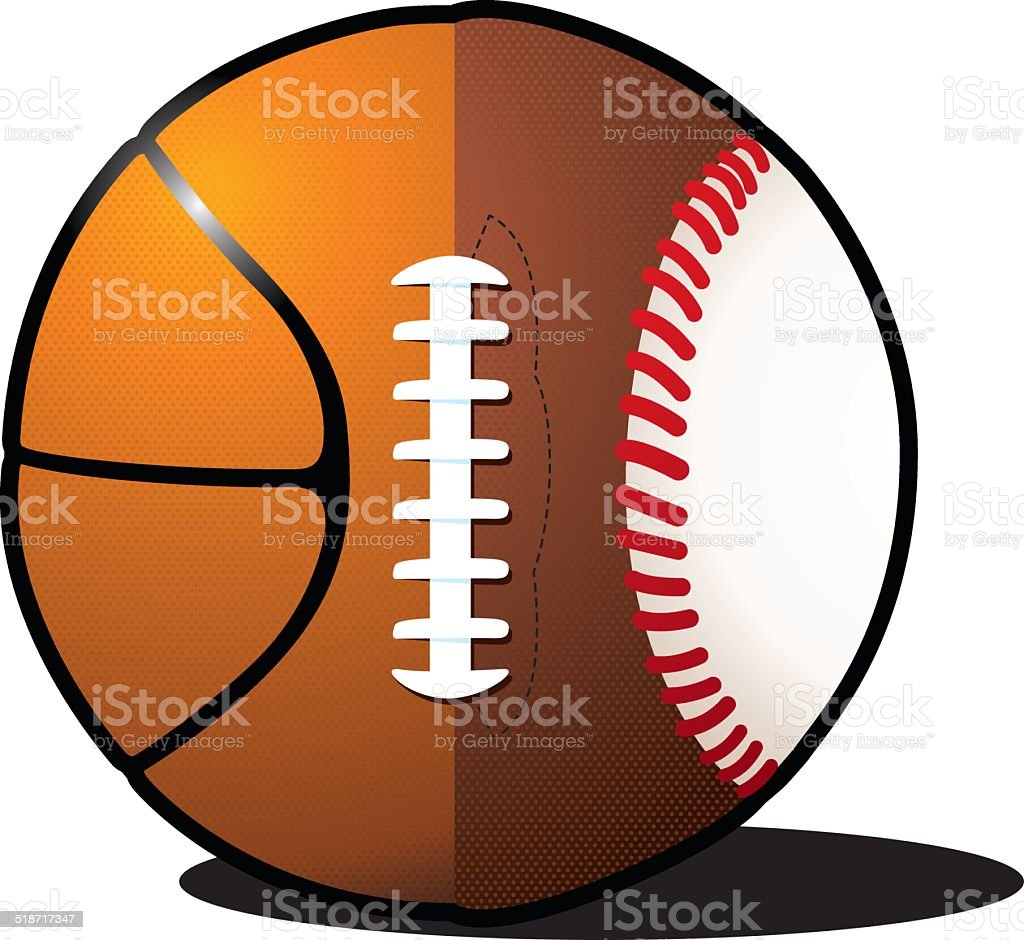 Sports Ball vector art illustration