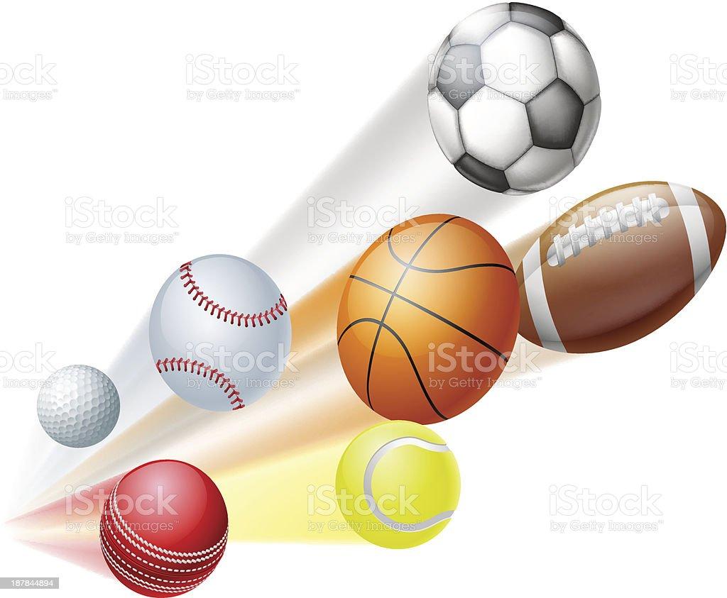 Sports balls concept royalty-free stock vector art