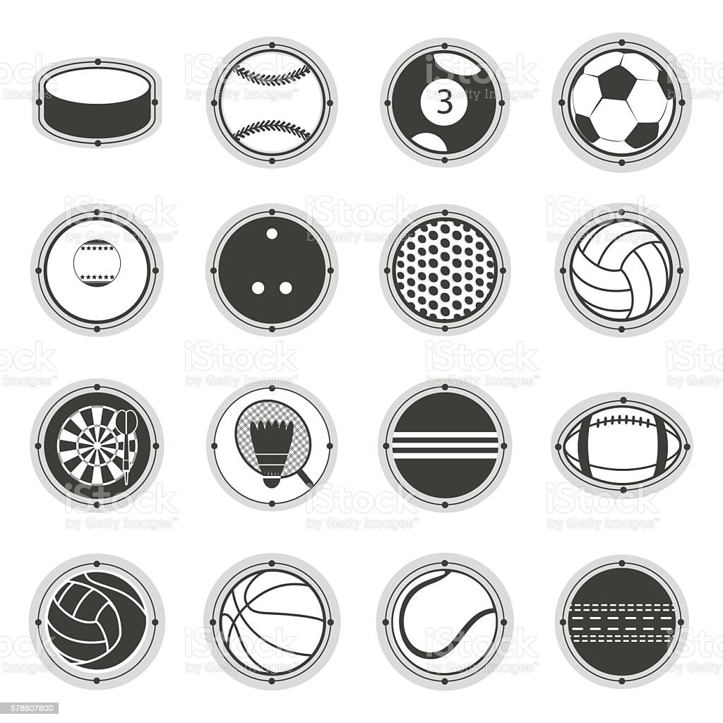 Sports Balls. Football, basketball, golf, volleyball, hockey,...