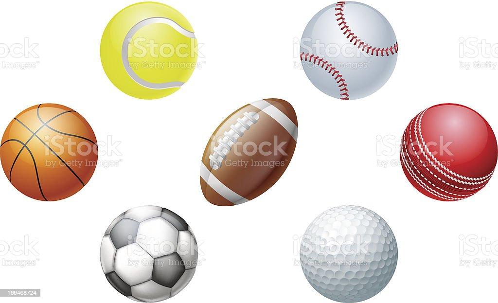 Sports balls royalty-free stock vector art