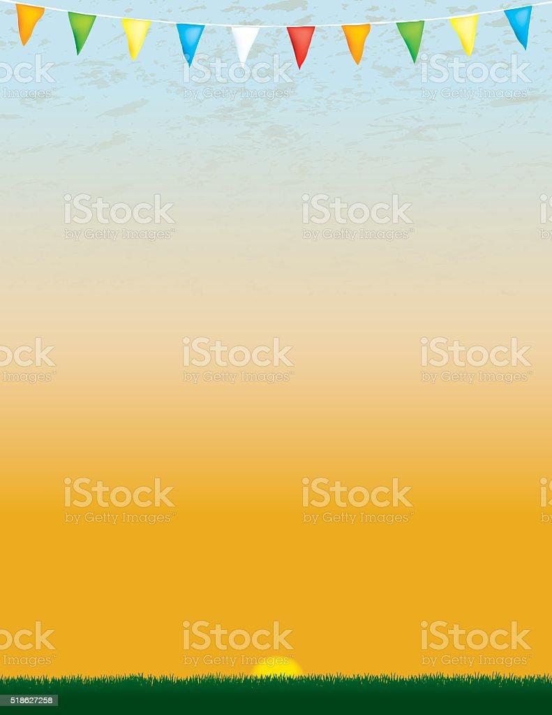 Sports Banner Background, Sunrise, Fun Run vector art illustration