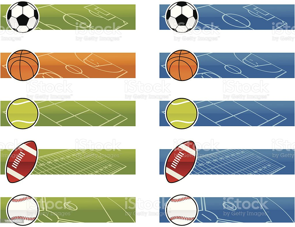 Sports Banners royalty-free stock vector art