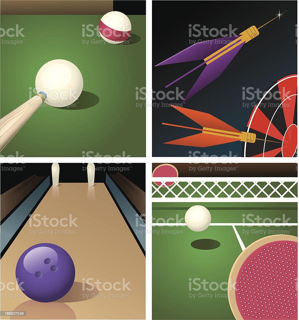 Sports Bar - Games royalty-free stock vector art