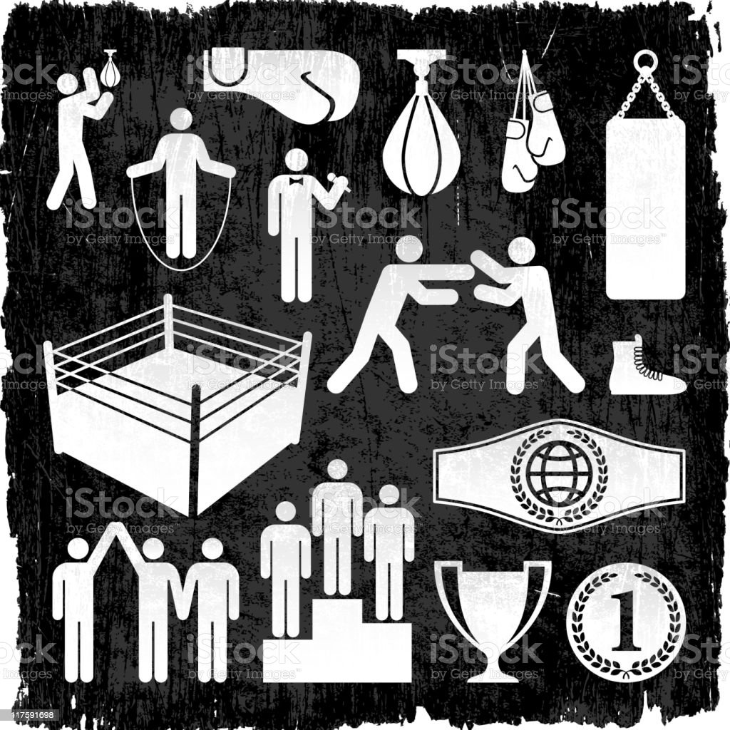 sports & boxing on royalty free vector Background royalty-free stock vector art