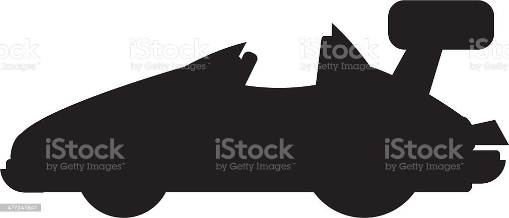 Sports Car Silhouette royalty-free stock vector art