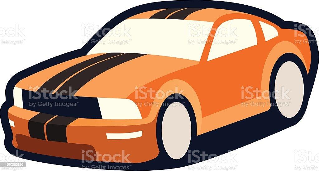 sports car vector art illustration
