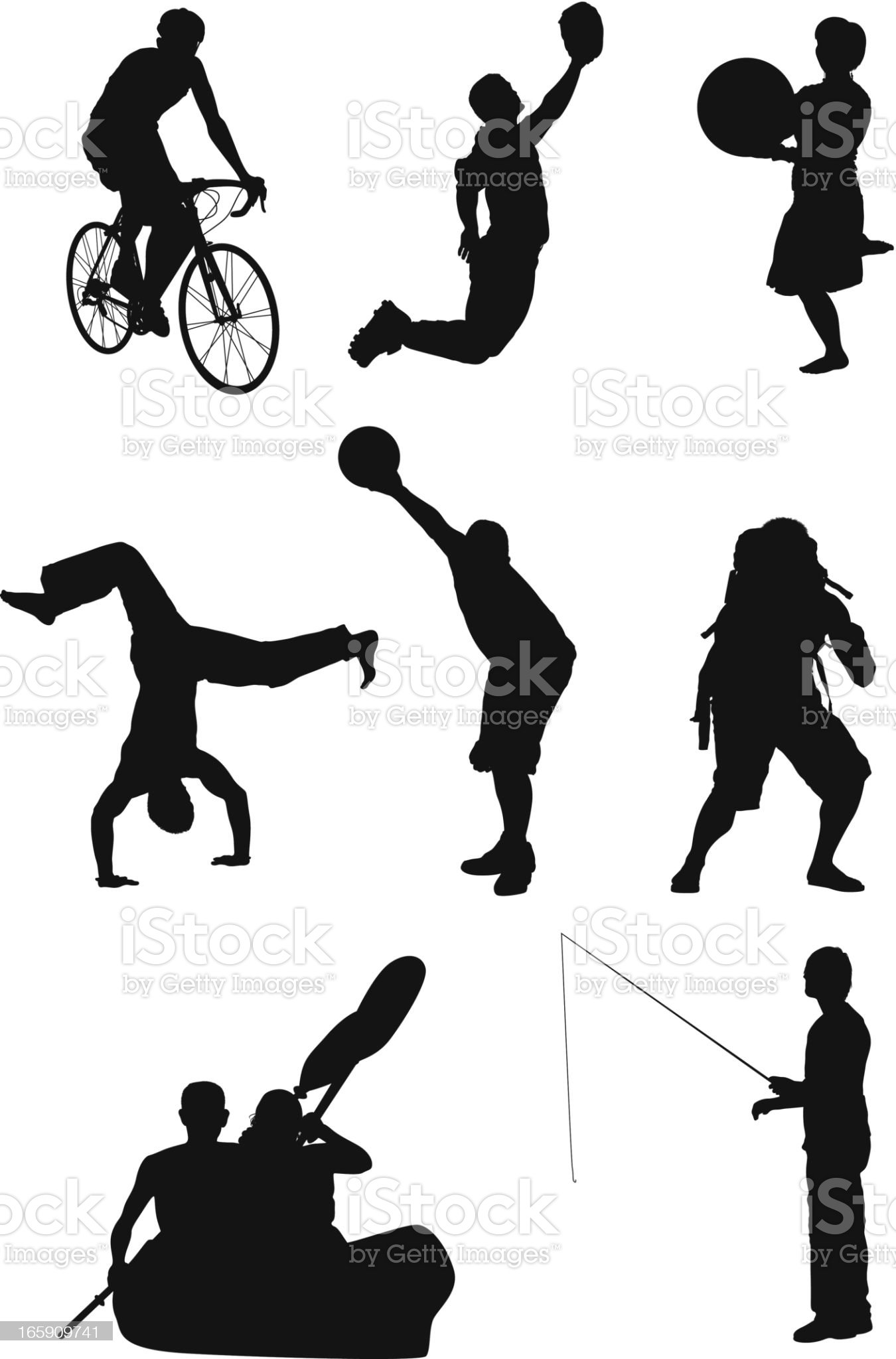 Sports collection royalty-free stock vector art