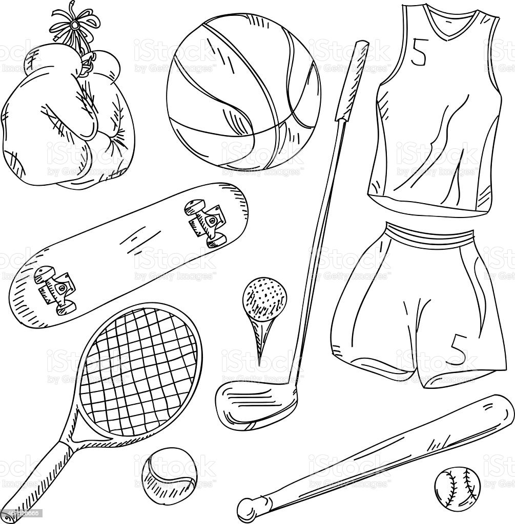 Sports Collection vector art illustration