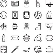 Sports Colored Vector Icons 4