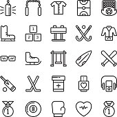 Sports Colored Vector Icons 5