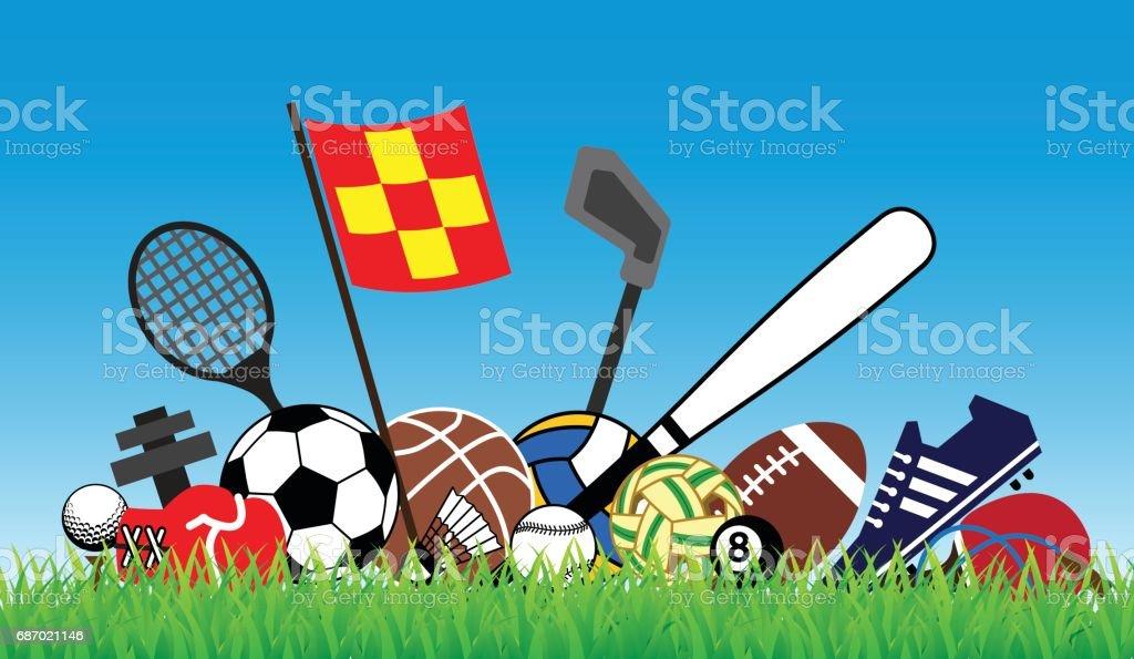 sports concept vector art illustration