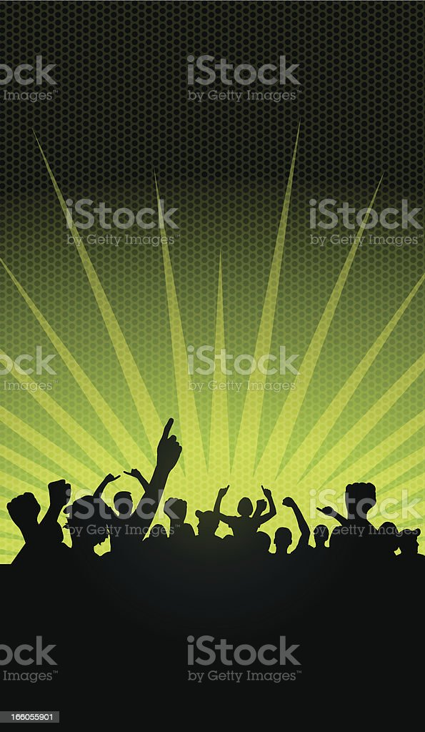 Sports Crowd Background royalty-free stock vector art