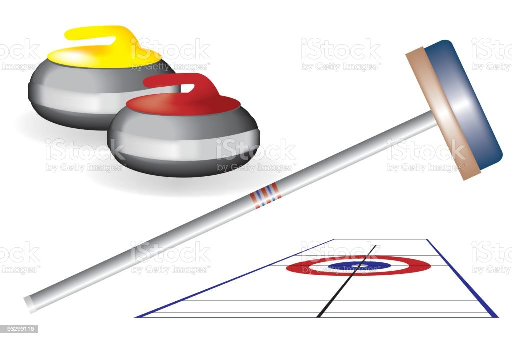 Sports - curling design elements royalty-free stock vector art