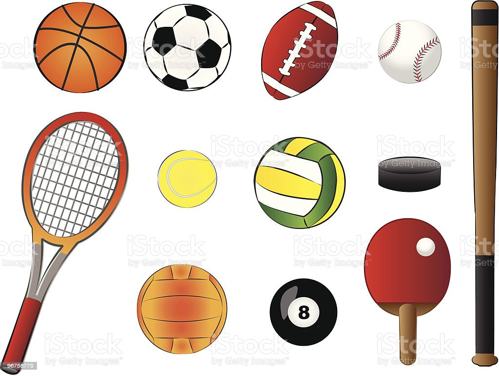 sports equipment vector illustration royalty-free stock vector art