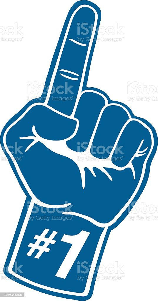 Sports Foam Hand vector art illustration