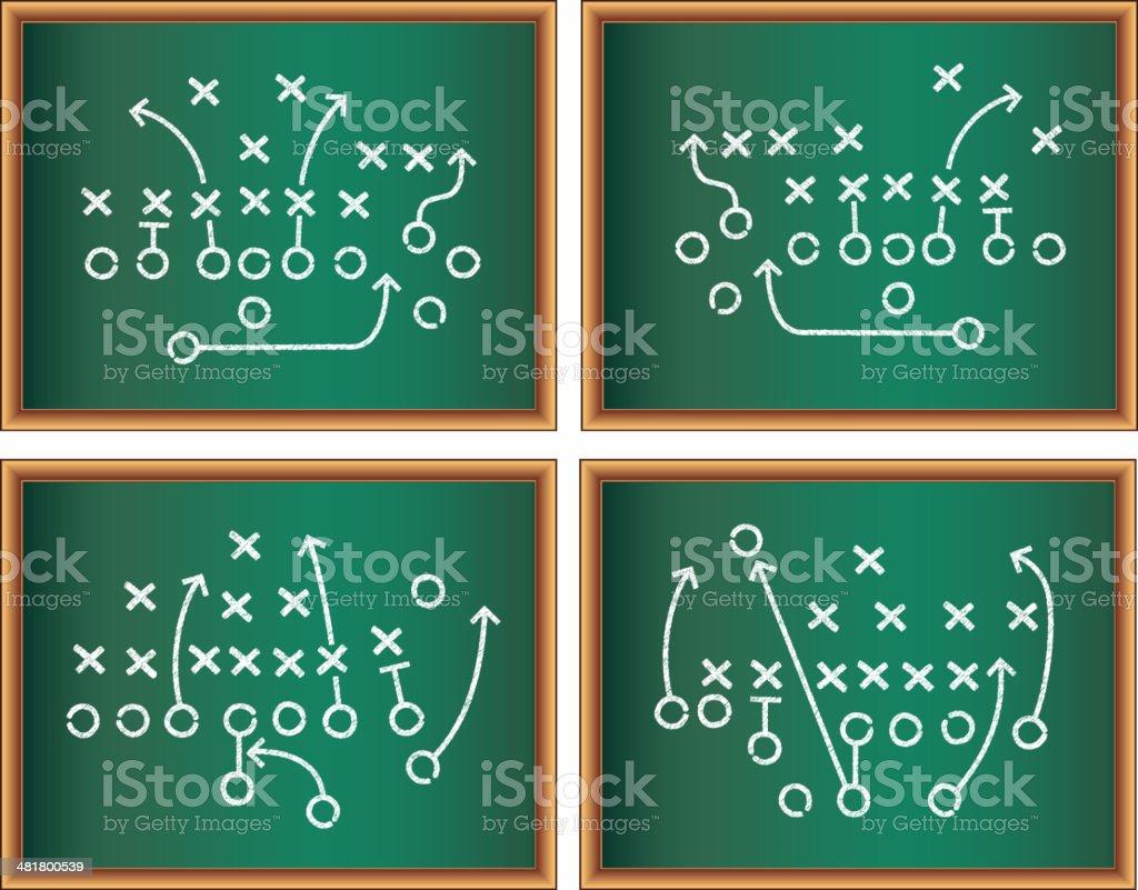 Sports Game Plan on Blackboard royalty-free stock vector art